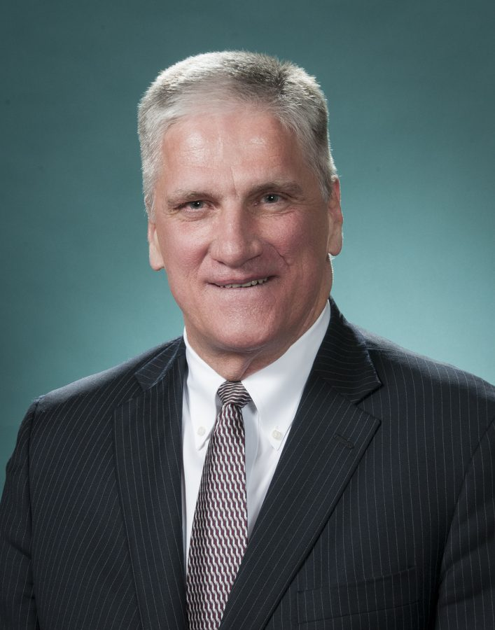 Photo of Chris Taylor, the newly elected Board of Education President. Photo from district website.