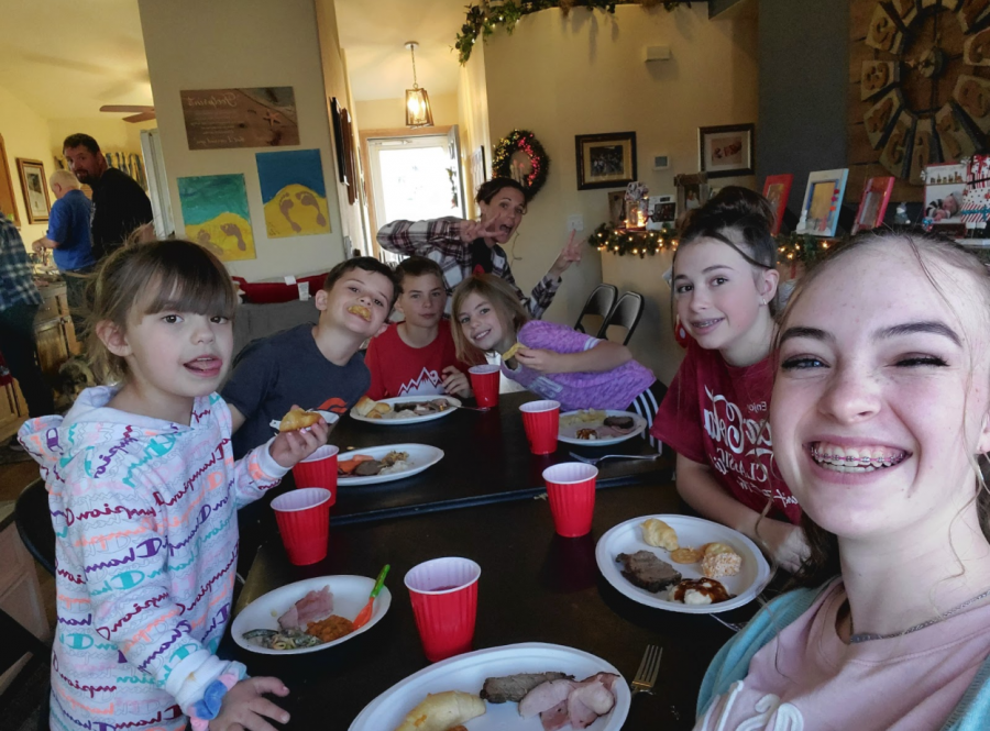 Taylor Goss spent Thanksgiving with some of her cousins and their parents, her grandparents, and her immediate family.