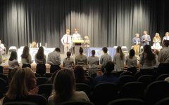 The inductees recite the official NHS pledge.