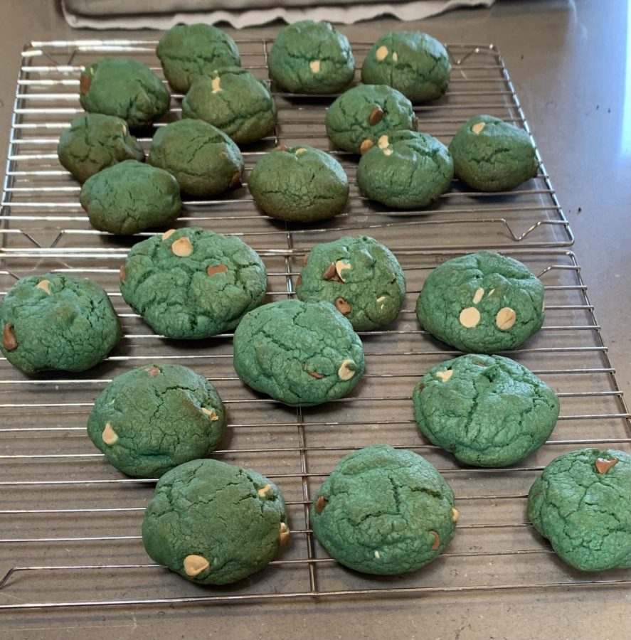 Finished Cookie Monster Cookies. Photo by Maggie Mulloy